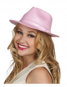 Chapeau gangster rose adulte