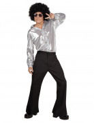 Chemise disco argent homme
