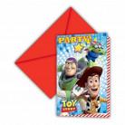 6 invitations carton Toy Story Star Power ™