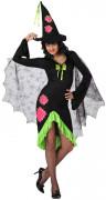 Disfraz de bruja verde para mujer