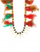Collier indien à plumes