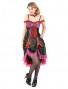 Disfraz de cabaret rojo y negro