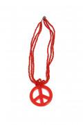 Collier hippie rouge