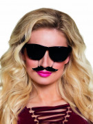 Lunettes noires à moustache