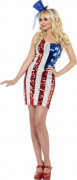Déguisement robe USA femme