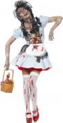 Déguisement zombie chaperon femme