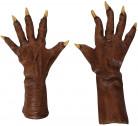 Gants marron loup garou adulte Halloween
