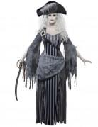 Déguisement fantôme pirate grise femme Halloween