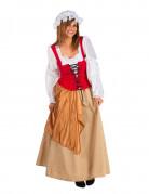 Disfraz de campesina medieval mujer