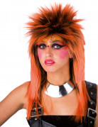 Perruque punk orange adulte