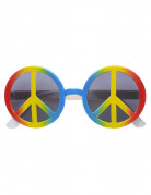 Lunettes hippie multicolore adulte
