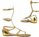 Sandales dorées femme