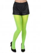 Collants vert fluo adulte