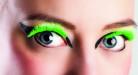 Faux cils courts verts fluo adulte