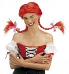 Perruque tresses rouge femme