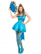 Déguisement paon bleu femme