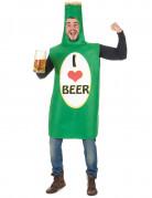 Déguisement bouteille de bière verte adulte
