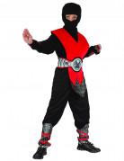 Déguisement ninja rouge et noir garçon