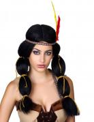 Perruque indienne à couettes femme