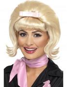 Perruque blonde années 50 femme avec noeud