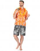 Chemise hawaïenne orange homme