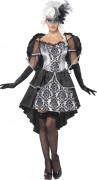 Déguisement ange noir et gris femme halloween