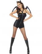 D�guisement d�mon noir femme Halloween