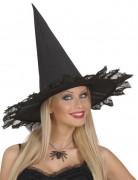 Collier araignée strass noir adulte Halloween