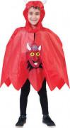 Poncho diable enfant Halloween