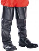 Sur-bottes noires plastique adulte