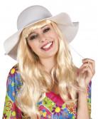 Chapeau estival blanc femme