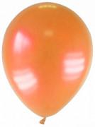 12 globos de color naranja metalizado