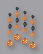 D�corations � suspendre citrouille Halloween