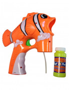Pistolet à bulles en plastique poisson clown