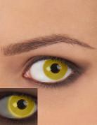 Lentilles fantaisie UV jaune adulte