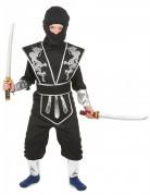 Déguisement ninja noir et argenté garçon