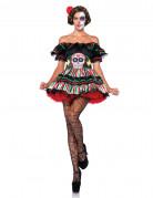 Déguisement squelette mexicaine colorée femme Dia de los muertos