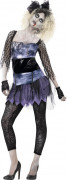 Déguisement zombie star années 80 femme Halloween
