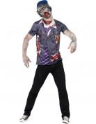 T-shirt zombie écolier homme Halloween