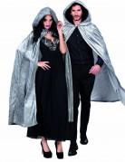 Cape grise aspect velours 170 cm adule Halloween
