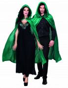 Cape verte aspect velours 120 cm adulte Halloween