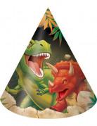 8 Chapeauxde fête anniversaire Dinosaures