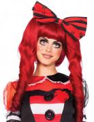 Perruque poupée rouge 3 en 1 femme