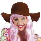 Chapeau estival marron femme