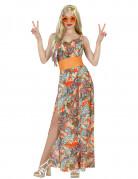 Déguisement hippie motif orange femme