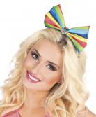 Coiffe noeud papillon clown multicolore femme