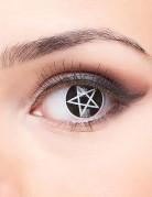 Lentilles de contact fantaisie croix satanique adulte Halloween