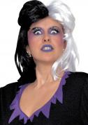 Perruque dame de l'enfer bicolore femme