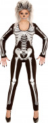 Déguisement combinaison squelette femme