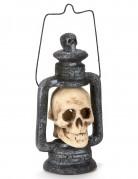 Lanterne crâne lumineuse 35 cm Halloween